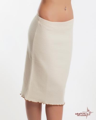Falda Etnico en 100% algodón natural