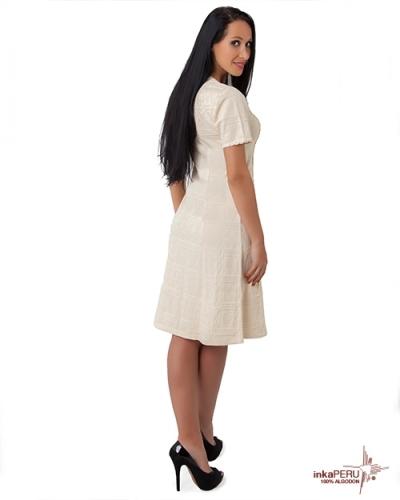 Vestido largo en 100% algodón natural