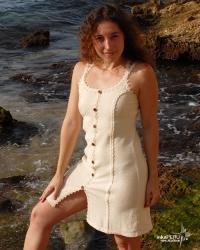 Vestido princesa en 100% algodón natural