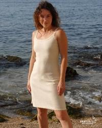 Vestido bohemio en 100% algodón natural