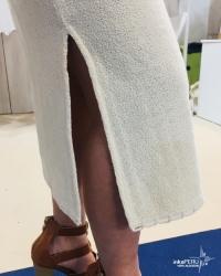 Falda Midi en 100% algodón natural