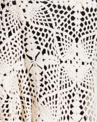 Poncho tejido a mano en 100% algodón natural