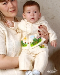 Children's pants in natural cotton